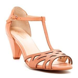 Seychelles Comfy Dance Soft Peach T Strap Heel | 6